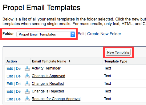 Customize Standard Email Templates Propel