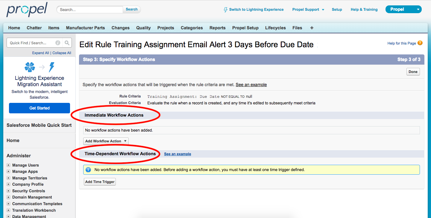 Configuring Time-Based Email Alerts or Notifications – Propel